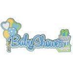 Paper Wizard - Die Cuts - Baby Shower - Blue
