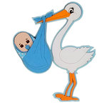 Paper Wizard - Die Cuts - Stork - Blue