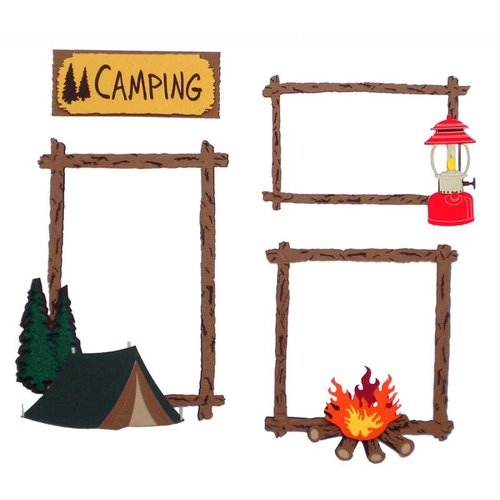 Paper Wizard - Die Cuts - Camping Frames