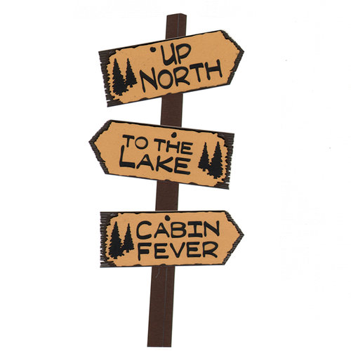 Paper Wizard - Die Cuts - Up North Trail Signs