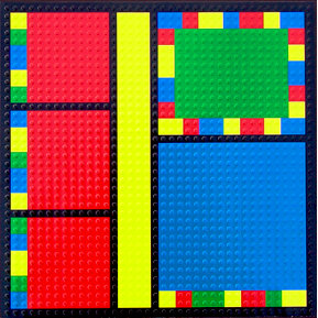 Paper Wizard - Block Party Collection - Lego - 12x12 Embossed Paper - Color Block 1