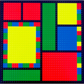 Paper Wizard - Block Party Collection - Lego - 12x12 Embossed Paper - Color Block 4