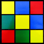 Paper Wizard - Block Party Collection - Lego - 12x12 Embossed Paper - Color Block 6