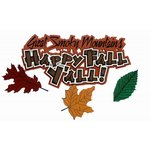 Paper Wizard - Holidays Collection - Die Cuts - Happy Fall Y'all