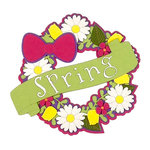 Paper Wizard - Die Cuts - Seasonal Wreath - Spring