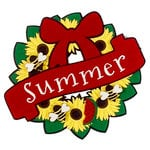 Paper Wizard - Die Cuts - Seasonal Wreath - Summer