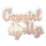 Paper Wizard - Travel Collection - Die Cuts - Cowgirl Up - Pink