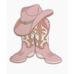 Paper Wizard - Country Style Collection - Die Cuts - Hat and Boots - Pink