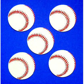 Paper Wizard - Die Cuts - Mini Baseballs, CLEARANCE