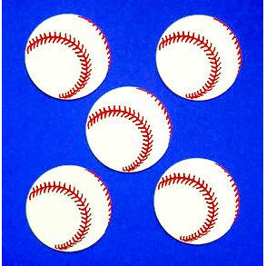 Paper Wizard - Die Cuts - Mini Baseballs, CLEARANCE