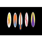 Paper Wizard - Beach Travel Collection - Die Cuts - Surfboards