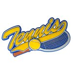 Paper Wizard - Old School Sports Titles Collection - Die Cuts - Tennis
