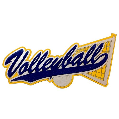 Paper Wizard - Old School Sports Titles Collection - Die Cuts - Volleyball