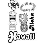Paper Wizard - Stamp Magic Collection - Clear Acrylic Stamps - Hawaii
