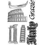 Paper Wizard - Stamp Magic Collection - Clear Acrylic Stamps - Italy