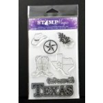 Paper Wizard - Stamp Magic Collection - Clear Acrylic Stamps - Texas Two-step