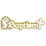 Paper Wizard - Die Cuts - Baptism Title