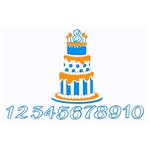 Paper Wizard - Die Cuts - Birthday Banner Cake - Blue