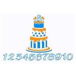Paper Wizard - Die Cuts - Birthday Banner Cake - Blue