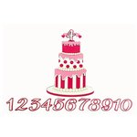 Paper Wizard - Die Cuts - Birthday Banner Cake - Pink