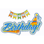 Paper Wizard - Die Cuts - Birthday Banner Title - Blue