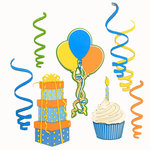 Paper Wizard - Die Cuts - Birthday Banner Minis - Blue