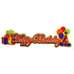 Paper Wizard - You Say Its Your Birthday Collection - Die Cuts - Happy Birthday - Script - Pink