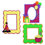 Paper Wizard - You Say Its Your Birthday Collection - Die Cuts - Happy Birthday - Frames - Pink