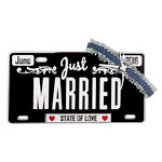 Paper Wizard - Die Cuts - Just Married License Plate