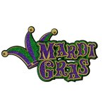 Paper Wizard - Down South Collection - Die Cuts - Mardi Gras Title