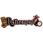 Paper Wizard - Die Cuts - Retirement Title