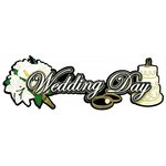 Paper Wizard - Special Occasions Collection - Die Cuts - Wedding Day