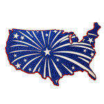 Paper Wizard - Stars and Stripes Collection - Die Cuts - Fireworks Map