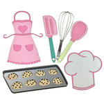 Paper Wizard - Sweet Shoppe Collection - Die Cuts - Baking Minis