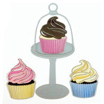 Paper Wizard - Sweet Shoppe Collection - Die Cuts - Cupcake Trio