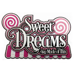 Paper Wizard - Sweet Shoppe Collection - Die Cuts - Sweet Dreams Title
