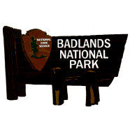 Paper Wizard - National Parks Collection - Die Cuts - Badlands Sign