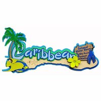 Paper Wizard - Island Paradise Collection - Die Cuts - Caribbean Title