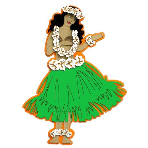 Paper Wizard - Hawaii Collection - Die Cuts - Hula Girl