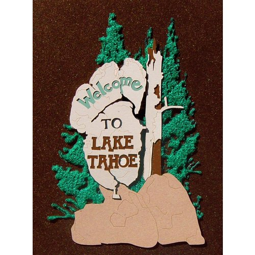 Paper Wizard - Great Smokey Mountains Collection - Die Cuts - Lake Tahoe Sign