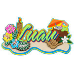 Paper Wizard - Hawaii Collection - Die Cuts - Luau 3