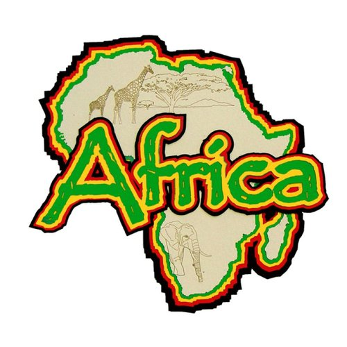 Paper Wizard - Country Maps Collection - Die Cuts - Map of Africa