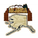 Paper Wizard - Altered States Collection - Die Cuts - Map of Alaska