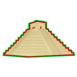 Paper Wizard - Travel Collection - Die Cuts - Mayan Ruins