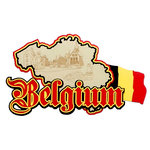 Paper Wizard - Die Cuts - Map of Belgium