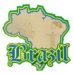 Paper Wizard - Country Maps Collection - Die Cuts - Map of Brazil