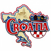 Paper Wizard - Country Maps Collection - Die Cuts - Map of Croatia