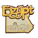 Paper Wizard - Country Maps Collection - Die Cuts - Map of Egypt