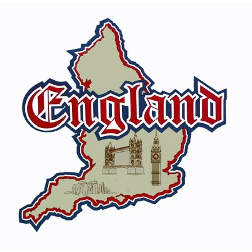 Paper Wizard - Country Maps Collection - Die Cuts - Map of England