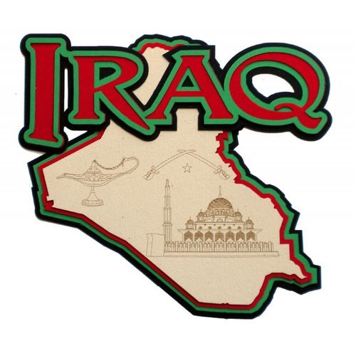 Paper Wizard - Country Maps Collection - Die Cuts - Map of Iraq